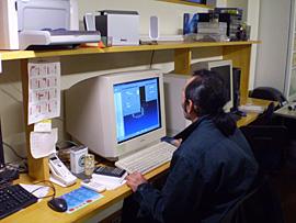 CAD/CAM作業風景